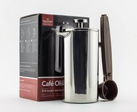 Wholesale French Clay - New arrivel-Hot sale 350ml double wall Stainless Steel french coffee press for 2 people to use