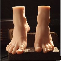 Wholesale Mannequin Male - 2016 Newest Big Style Male Mannequin Foot Silicone Realistic Foot Model Mannequin Hot Sale