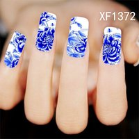 Wholesale Designs Nail Art Wraps Sticker - Water Transfer Nails Art Sticker Pink Red Rose Flowers Design Manicure Decor Tools Cover Nail Wraps Decals HS276