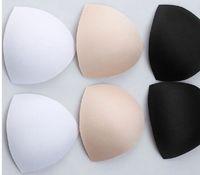 Wholesale Swimwear Padding Inserts Wholesale - Black White Skin Sponge Bra Lingerie Swimwear chest pad Bra Insert Cushion Breast pad 100 Pairs