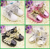 Wholesale Infant Baby Wear - 2015, PU autumn baby girl lacing medium waist casual toddler shoes. infant newborn indoor garden baby wear walking shoes 12pair 24pcs CL