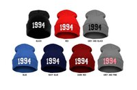 Wholesale 1994 Beanie Hat - Wholesale-1pc Retail Cheap 1994 Justin Bieber Beanie Sale Winter Knitted Hat For Men Women Caps Casual Skullies Hip-hop Many Colors