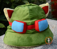 Wholesale teemo cosplay online - Hot game hats League of Legends cosplay cap Hat Teemo hat Plush Cotton LOL plush toys Hats