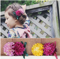 Wholesale Flower Girl Barrettes - Girls Flowers Hair Accessories Boutique Hair Bows 2016 New Children Hair Clip Crown Princess Hairpin Children Party Accessories H085