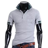 Wholesale Korean Shirt Shop - Wholesale-New Fashion Korean Style Men's Summer Cotton Joker Embroidery Short Sleeve Shirt B2C Shop