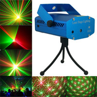 Wholesale New Blue Black Mini Projector Red Green DJ Disco Light Stage Xmas Party Laser Lighting Show Laser lighting