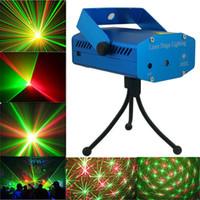 ingrosso luci blu del partito del laser-Spedizione gratuita ! Nuovo mini proiettore blu / nero Rosso verde DJ Disco Light Stage Xmas Party Laser Lighting Show Illuminazione laser