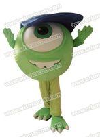 Wholesale Mike Wazowski Mascot Costume - Adult Suit Mike Wazowski mascot costume Cartoon mascot Adult Fancy Costume Party dress