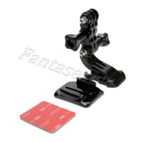 Wholesale Gopro Side Mount - 3-Way Adjustable Pivot Set Curved Adhesive Side Mount B model Helmet Front Mount for Hero 3 2 1 Gopro Go Pro Hero123 accessory