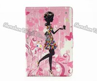 Wholesale Mini Ipad Stylish - Stylish diamond girl&flower pattern PU leather stand protective cover for iPad mini4 50pcs lot dhl shipping