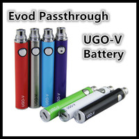 Wholesale V Cig Rechargeable - Ugo V Battery E Cig Evod Passthrough USB Bottom Charge Ego Electronic Cigarettes Rechargeable Batteries 650mah 900mah For CE4 1453 Atomizers
