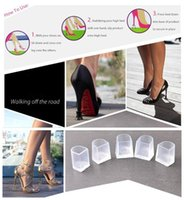 Wholesale Wholesale Latin Ballroom Shoes - NEW ARRIVAL Silicone High Heel Protectors Dancing Shoe Care Kit Latin Salsa Tango Rumba Ballroom Antislip Shoes Covers Stoppers