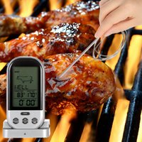 Wholesale Digital Wireless Thermometer Kitchen - LCD Wireless Barbecue Timer Food Cooking Thermometer Digital Probe Meat Thermometer BBQ Temperature Gauge Kitchen Cooking Tools