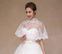 Wholesale Evening Shawls Tulle - 2016 Spring Summer Bolero Jackets for Evening Dresses High Neck Wedding Accessories Appliques Bridal Accessories Cheap