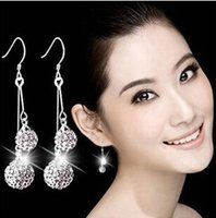 Wholesale Pierced Earring Chain - New Fahionable Wholesale Classic Diamon Earrings South United State Arabic Europe Hot Hypoallergenic Earrings Models of Quality 925 Silver