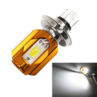 H4 Motorcycle Led Headlight Moped Scooter Motocicleta Branco DC12V ~ 80V 8W 1000LM 6000K Hi / Lo Beam COB Headlamp