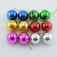 Wholesale Pink Christmas Ornaments Balls - Six piece 1.2-3.9 inch Plastic Bauble Christmas decorative Balls To Decorate Chrismas Tree Plastic Ball free shipping CB0102