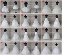 crinoline slip für prom großhandel-2020 neue 10-Art-Weiß eine Linie Ballkleid-Nixe-Hochzeits-Abschlussball-Braut Petticoats Underskirt Krinoline Hochzeit Zubehör Braut Rutsch Kleider