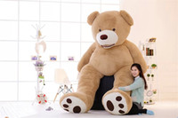 Wholesale Teddy Movie - 340CM  134INCH giant teddy bears Giant Big Plush Teddy Bear Valentines Day Brown Huge Teddy Bear