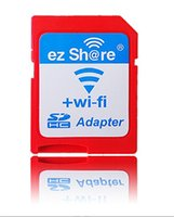 Wholesale Micro Sd Cards Sale - 2017 Free shipping ezshare EZ share micro sd card adapter wifi wireless hot sale TF MicroSD adapter WiFi SD card free ride from memorygeek