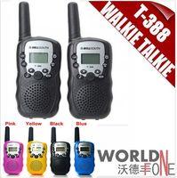 Wholesale Civilian Walkie Talkie - 2015 Promotion!Brand new bellsouth 2Pcs (a pair) Walkie Talkie Travel T-388 0.5W UHF Auto Multi Channels 2-Way Radios Interphone 2pcs set