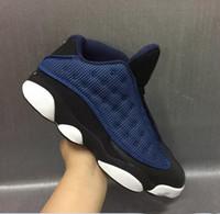 Wholesale Art Online Games - Fashion 2017 Basketball shoes Retro 13 bred flints blue Got Game hologram barons sport sneaker For hot online sale Size 40-47
