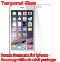 Wholesale S4 Screen Retail - Cheaper 2.5D Screen Protector Tempered Glass 0.26mm For iphone 4 5 6 6 plus Galaxy S6 S4 S5 Note 3 4 Without Retail Package