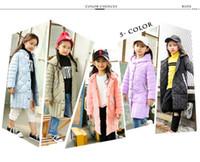 Wholesale Long Fur Coat Model - Children's duck down jacket for Girl clothes Outerwear fur long model warm baby jackets girls Winter coat Cold parka