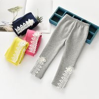 Compra Collant Per Fiori Delle Ragazze-Collant bambina Collant bottoming bambina in velluto di fiori Autunno Inverno Kids scava fuori collant addensato Kids Leisure pants C2037