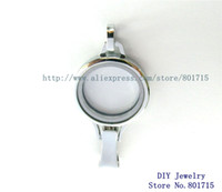 Wholesale Family Locket - 5pcs Badge hold lanyard Floating Memory locket 30*65mm Chrome color Plain Copy Stainless Steel Glass as families friends gift