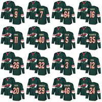 Wholesale Number 22 - 2018 Hockey Jerseys Minnesota Wild Jersey 22 Niederreiter 11 Parise 40 Dubnyk 64 Granlund Custom Any Name Any Numbers Stitched
