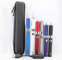 evod elektronische cigs großhandel-EVOD MT3 Single Starter Zipper Case Kit elektronische Zigaretten-Kits E-Cigs MT3 Zerstäuber 650mah 900mah 1100mah 1100mah Batterie Dampfverdampfer Ego