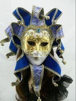 Wholesale venice free - Single package Brazil Carnival mask in the Venice carnival music style Hand draw three-dimensional grain masquerade mask free shipping FD05