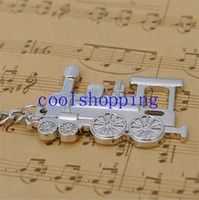 Wholesale Steam Holder - Locomotive Key Chain Ring Llavero Train Loco Chaveiro Keyring Key Holder Keychain Steam Train Model Jewelry