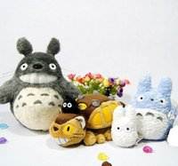 Wholesale Upgraded Stocks - Wholesale-OP-(In Stock) New Original CATBUS My Neighbor Totoro The Whole Family Stuffed Plush Doll Upgrade Set Genuine Studio Ghibli