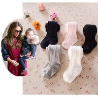 Wholesale Wholesale Socks For Infants - 2015 baby tights for girls toddler candy color tights pants baby Children girls tights bowknot newborn leggings Cotton baby infant socks