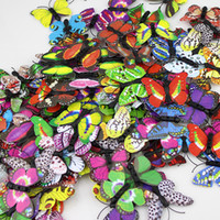 Wholesale 3d Artificial Butterflies - 100 Pieces 3D PVC Mixed Artificial Butterfly Decor For Home DIY Christmas Wedding Decoration Free Shipping