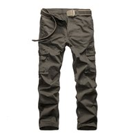 Wholesale Green Cargo Skinny Pants - Wholesale-Hot Sale 2016 Outdoor Men Stylish Multi Pocket Cargo Pants Casual Loose Baggy Sport Long Full Length Straight Trousers Plus Size