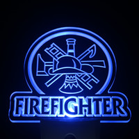 Wholesale Wholesale Firefighter - Wholesale-ws0238 Firefighter Department Day  Night Sensor Led Night Light Sign