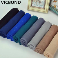 Wholesale Purple Glitter Scarf - 2017 New style pure color Bali yarn glitter lady scarf Muslim bandana Multifunctional anti sai warm scarves fashion 10pcs lot
