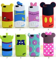 Wholesale Galaxy S3 Gel Cases Cute - 3D Cute Cartoon Back Shadow Mickey Minnie Winnie Rubber Silicone Gel Case For iPhone 4 5 6 Plus Samsung Galaxy S3 S4 S5
