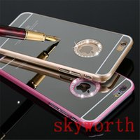 Wholesale Hard Chrome Bling Case - Luxury Electroplating Bling Diamond Glitter Sparkle Mirror Chrome Hard PC Back Cover Case for iPhone 4 4S 5 5S 6 6S Plus