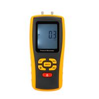 usb-messen großhandel-Freeshipping Min Pocket USB LCD Display Digital Luftdruckmesser Manometro Messbereich 35 kPa Temperaturkompensation