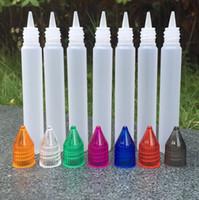 Wholesale E Liquid Refill Bottles - MOQ 20pcs Unicorn Bottle Empty Bottle 15ml 30ml PE Top Cap Dropper Pen Style Unicron E-Liquid Dripper Bottle for Refilling Free shipping