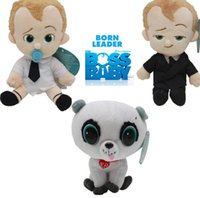 Muñecas De Peluche Baratos-Película The Boss Baby Plush Dolls Soft Stuffed Toys 20cm Diaper baby Pet Cartton juguetes para niños rellenos Toy Dolls kids Gifts KKA3347