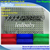 caja de publicidad al por mayor-5050 5 Módulo LED DC12V Impermeable ip65 iluminación Módulos de retroiluminación LED de señal Módulos de caja de luz publicitaria 20PCS / Lot