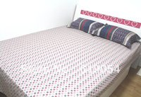 case sales sheets - promote sales cotton bed sheet set with small dot design one set means one flat sheet and pillow case