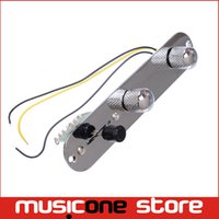 Wholesale Guitar Wiring Harness - Chrome 3 Way Wired Loaded Prewired Control Plate Harness Switch Knobs for TL Tele Telecaster Guitar accessories MU0604