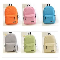 Wholesale Boys Choice - School Backpacks for Boys Girls 18 Solid Colors Choice Nylon School Bags Big Bag for School