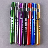 Wholesale Penlight For Nurses - Free Shipping Mini Portable Nurse Nursing Medical Aid Bright Pen Light Penlight Flashlight Torch With Scale For Sale